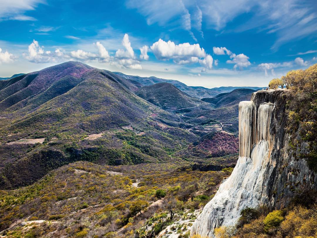Overlooking Hierve el Agua during 11 day tour of Mexico
