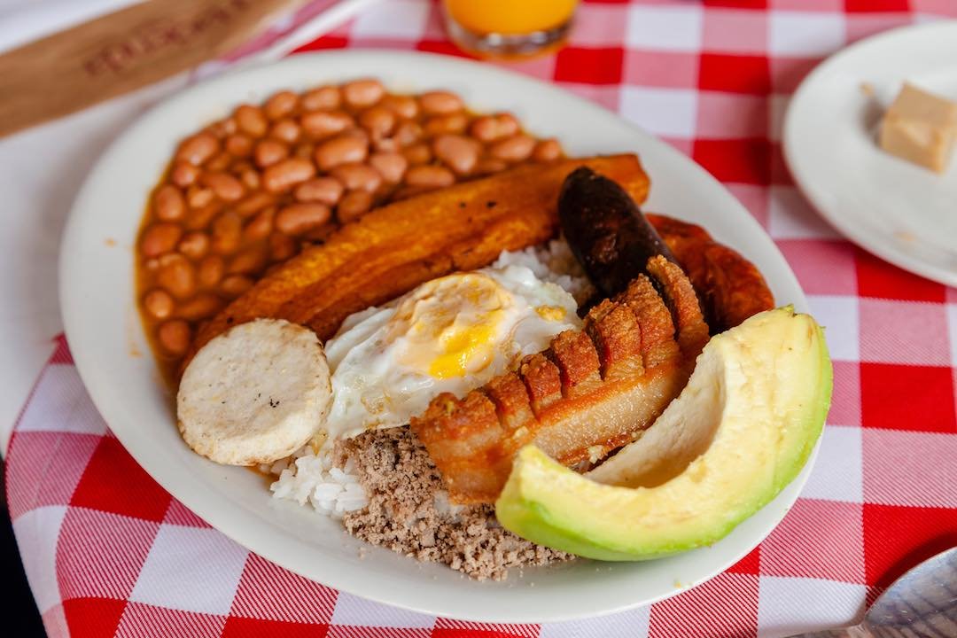 Bandeja paisa, traditional dish of Colombia