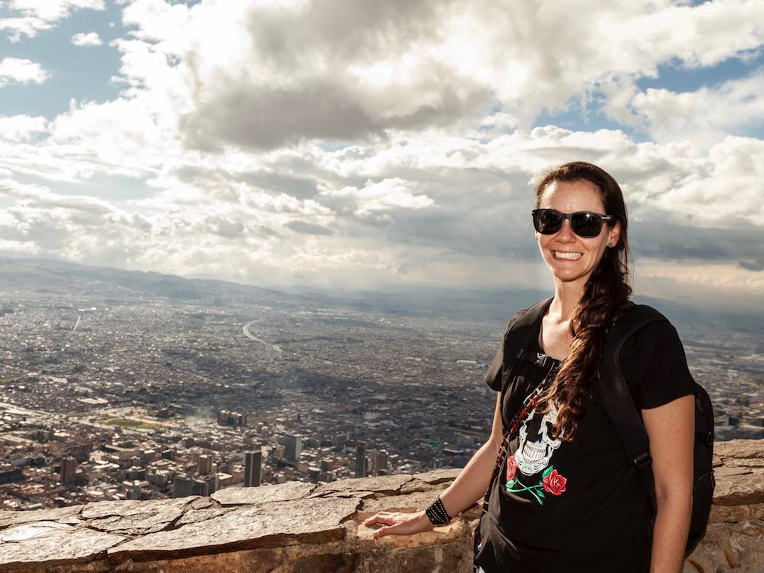 View over the city of Bogota in Colombia