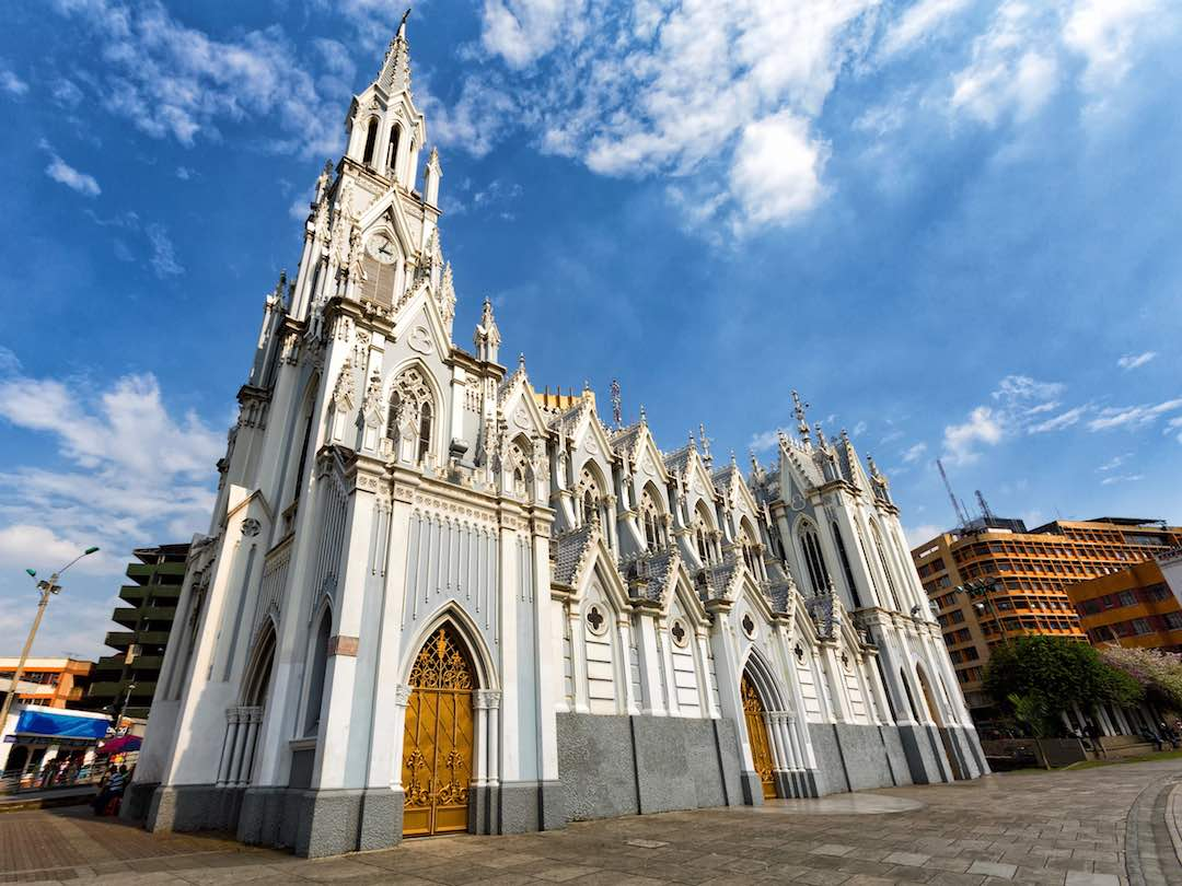 Beautiful church in the city of Cali, Colombia