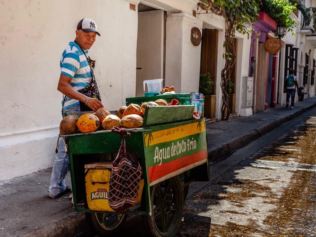 street food vendor in cartagena colombia