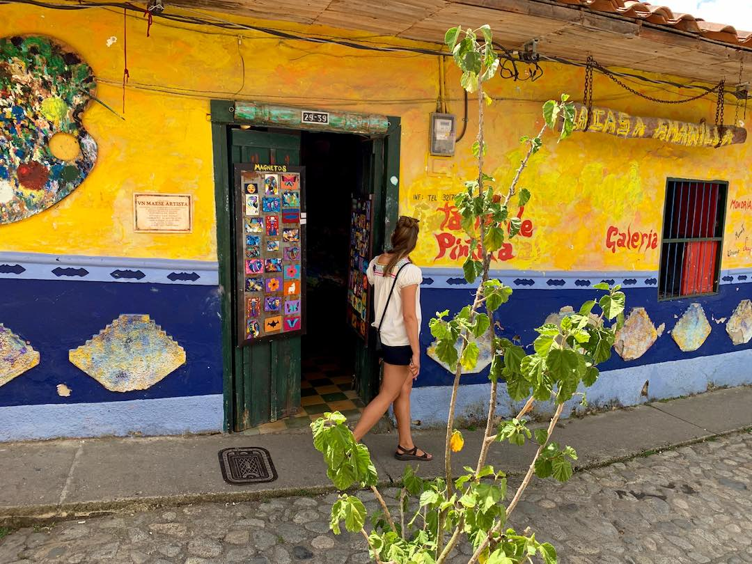 wandering the cobbled streets of guatape colombia