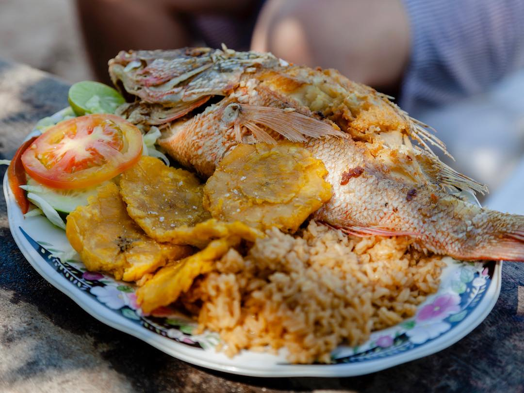 Things to do in Cartagena: Eating Pargo Rojo