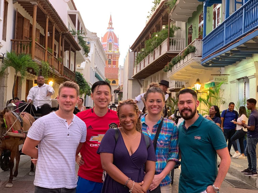 tour group exploring the best things to do in cartagena
