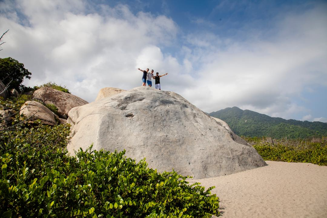 huge rock formations in parque tayrona colombia