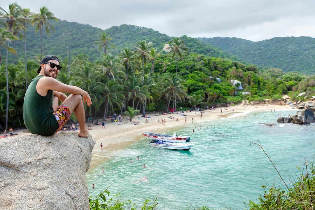 stunning views over tayrona national park