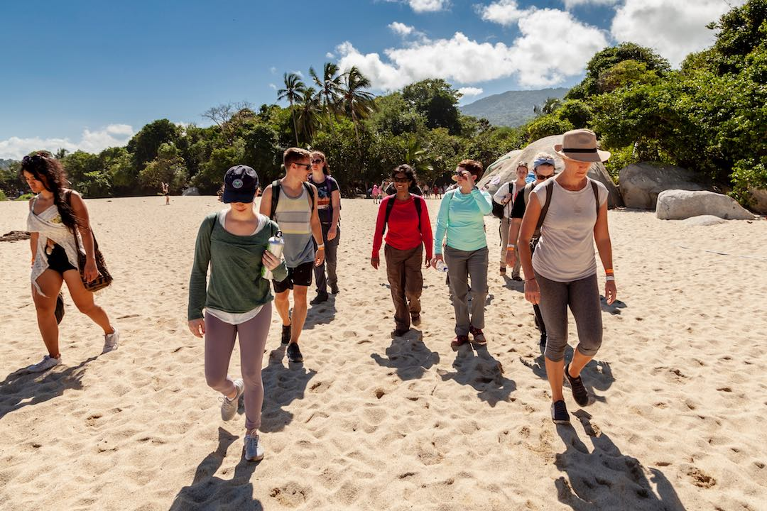 hiking the beaches of Tayrona National Park