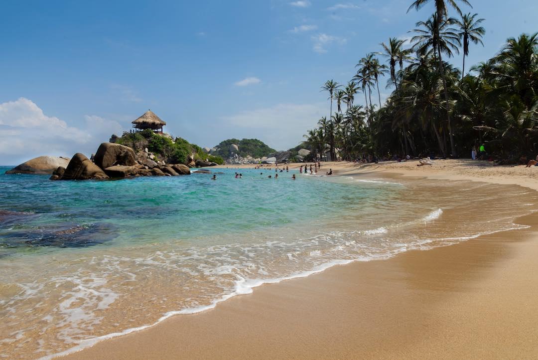 pristine beaches in parque tayrona colombia