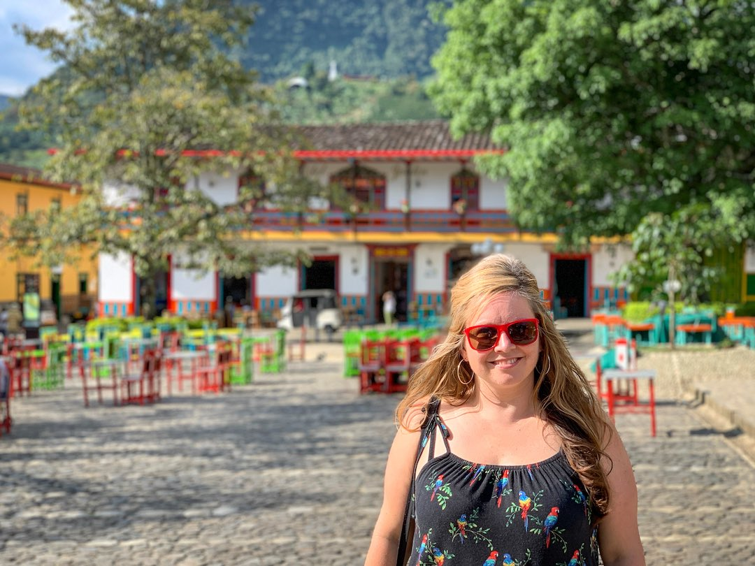 young professional solo traveller enjoying group holiday