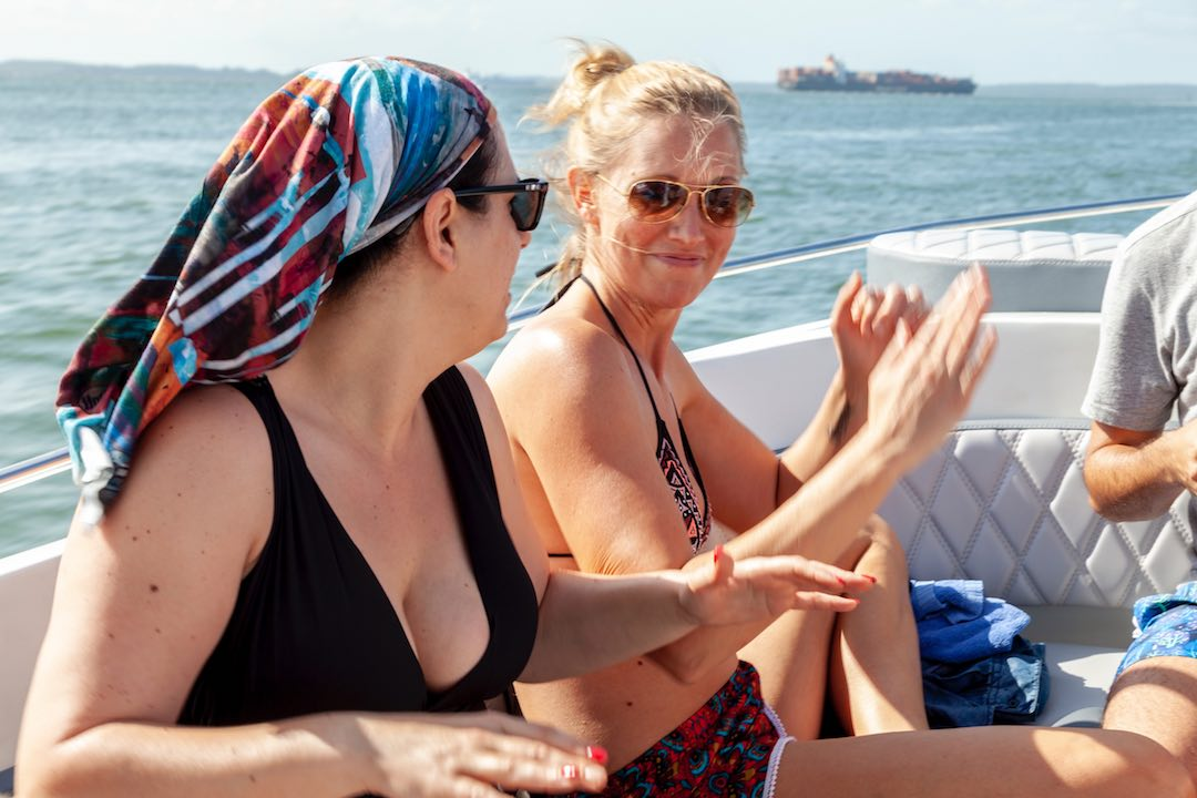 A solo female travel group