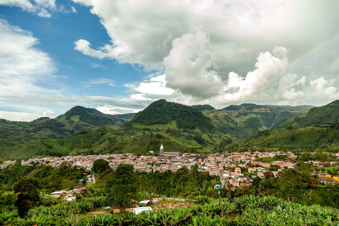 The beautiful town of Jardin in Colombia