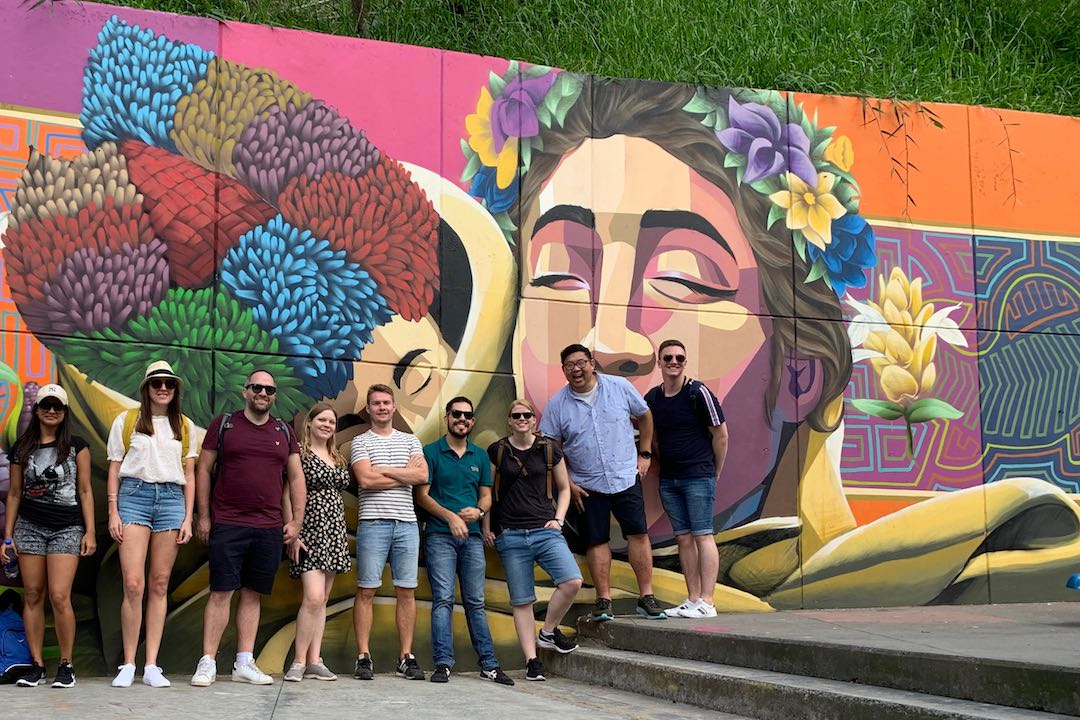 Group tour in Colombia