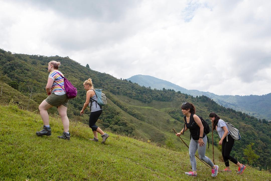 small group tour hiking in colombia