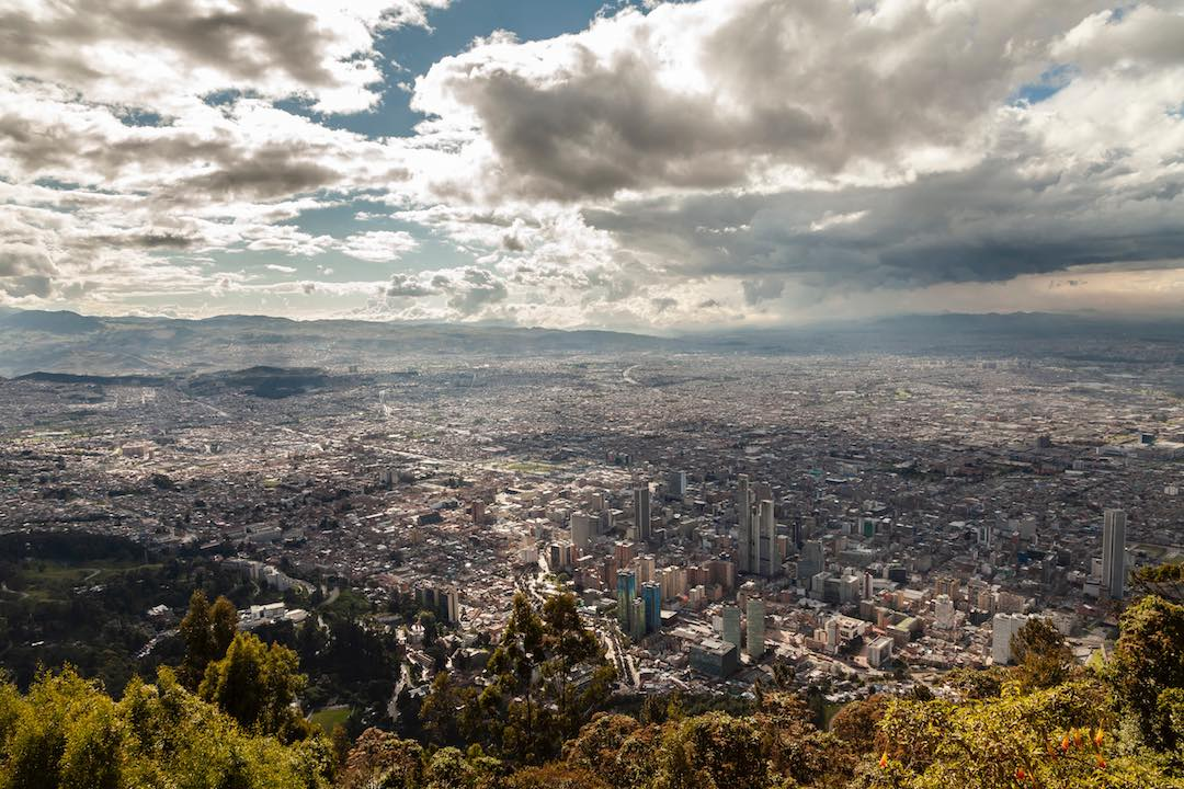 hiking monserrate bogota during colombian adventure