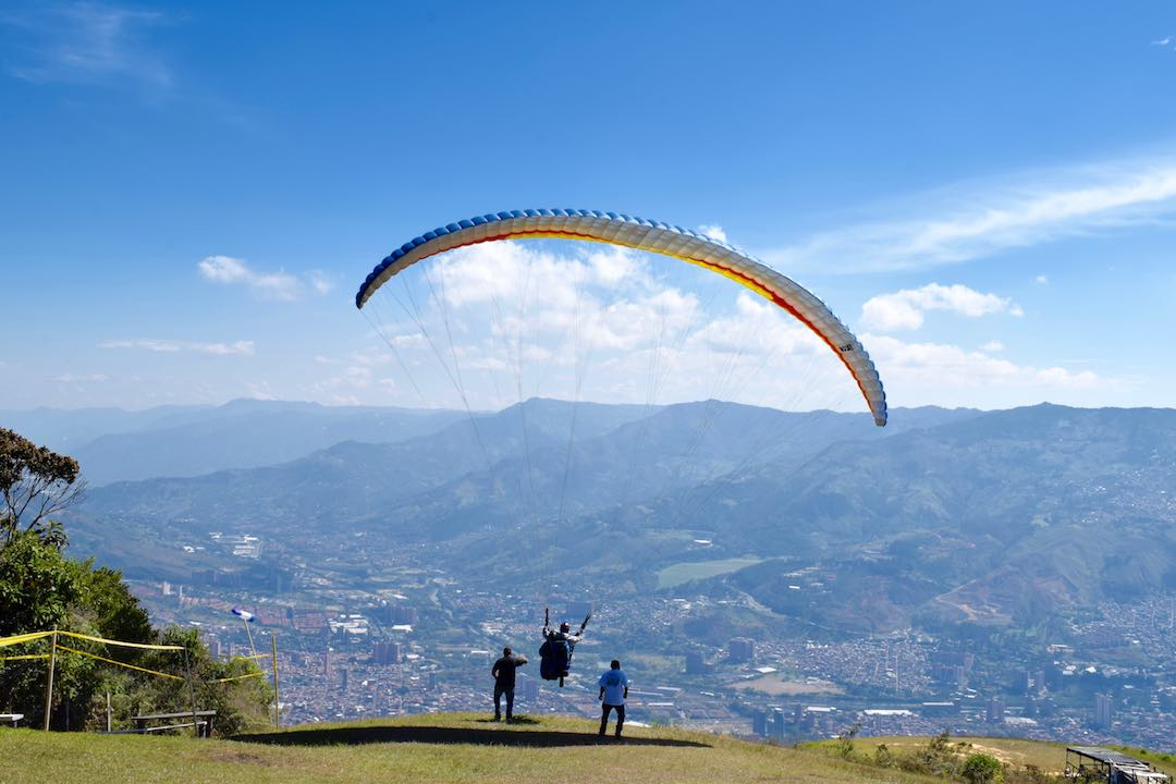 adventure travel in colombia paragliding medellin