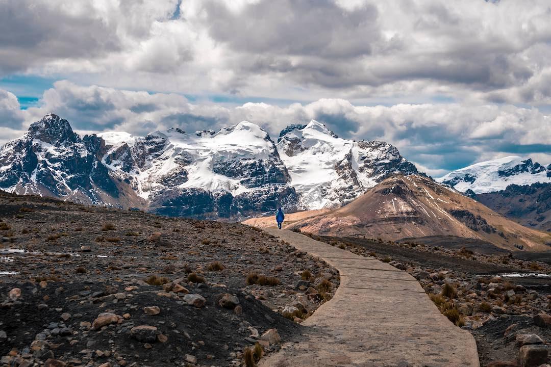 Solo travel to Peru Pastoruri Glacier