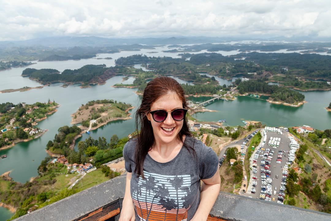Solo female traveller amazing views