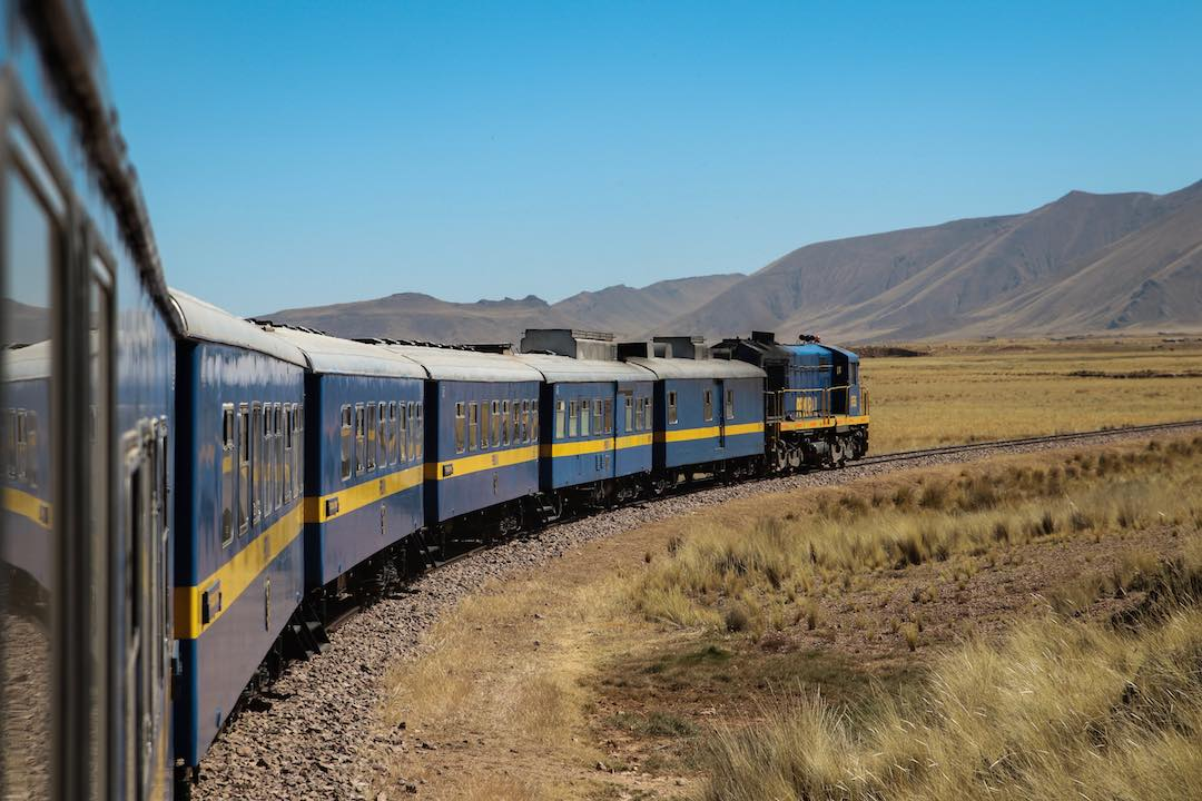 Catching train while travelling alone in Peru