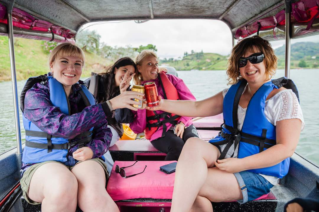 Travelling with strangers in Guatape, Colombia
